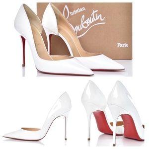 ✨$650✨Christian Louboutin White Pump Heels